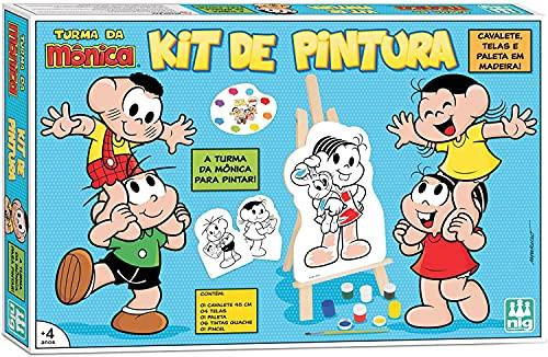 Kit de Pintura, Turma da Mônica, NIG Brinquedos, 13 peças