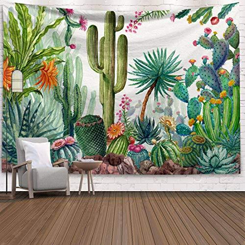qiufeng Tapiz Verde decoración de Pared de Verano Paisaje Tropical tapices para Colgar en la Pared Manta de Picnic paño de Pared Colorido 95 * 73 cm