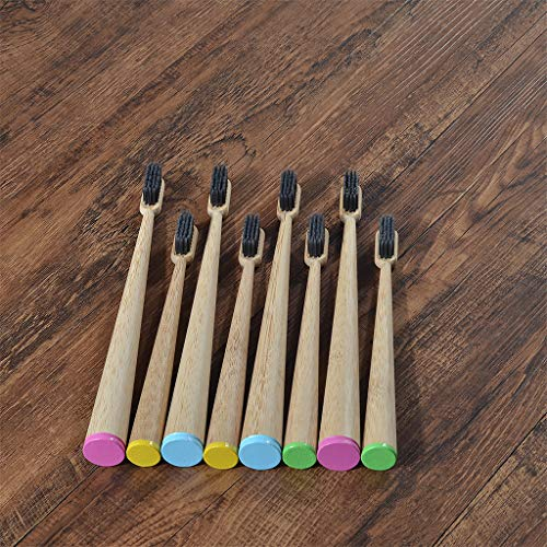 Brosses À Dents En Bambou Organiques - 1 Paquet Avec Bambou Coton Fraicheur Fil Dentaire Cadeau, Premium, Couleur Aléatoire Brosse À Dents En Bois Naturel,Bleu