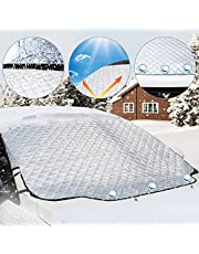 Aodoor カーフロントカバー 車サンシェード 四季用 凍結防止 雪対策 遮光 落葉対策 防水材料