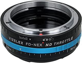 Vizelex ND Throttle Lens Mount Adapter from Fotodiox Pro - Canon FD (FD, FL, New FD) Lens to Sony E-Mount Camera (APS-C & Full Frame) - with Built-in Variable ND Filter (ND2-ND1000)