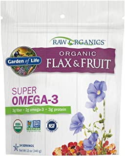 Garden of Life Raw Organic Flax Seed Meal with Antioxidant Fruits - Flaxseed with Lignan and Polyphenol, 12 oz Pouch - Pac...