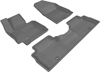 3D MAXpider Complete Set Custom Fit All-Weather Floor Mat for Select Kia Soul Models - Kagu Rubber (Gray)