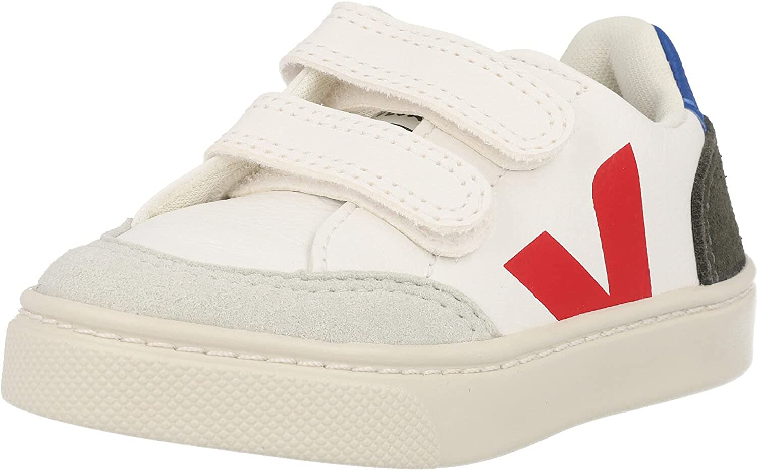 Veja Small V-12 Hook and Loop (Toddler) Extra/White/Multicolor/Mud 25 (US 8.5 Toddler) M