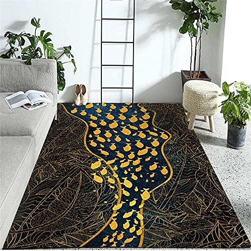 Alfombras De Pie De Cama Alfombra Suelo Escritorio Negro amarillo pequeño patrón de peces cocina jardín al aire libre sala de estar dormitorio seguridad anti - contaminación Alfombras Pelo Corto Salon