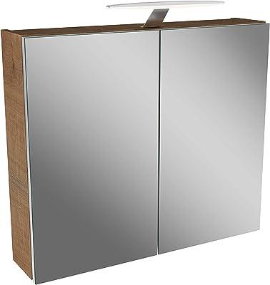 esche grau Dekor Schildmeyer Spiegelschrank 133076 Trient 70.0 x 16.0 x 75.0 cm