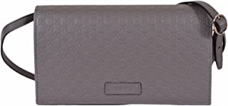 Leather Micro GG Guccissima Crossbody Mini Purse (Loess Grey)