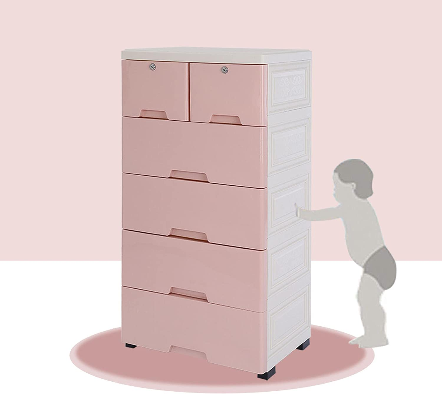 FITOOM 2021 autumn and winter new Plastic Drawers Dresser Storage Cabinet specialty shop Cl with 6