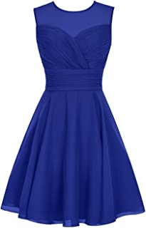 TalinaDress Womens Short Tulle Chiffon Bridesmaid Dress Homecoming Gown E063LF