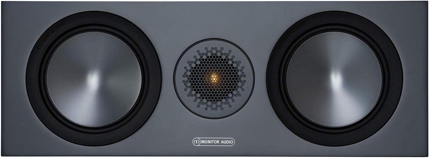 Monitor Audio Bronze C150 6g Farbe Urban Grey Center Lautprecher Stück Heimkino 2 Wege 8 Ohm 120 Watt Magnetische Abdeckung Geschlossenes Gehäuse Passiv Audio Hifi
