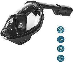 GUI-Mask Set de Snorkel y mascarilla Vista panorámica de 180 ° Set de Snorkel Gratis Respira fácilmente con Soporte de cámara Desmontable para Adultos o niños