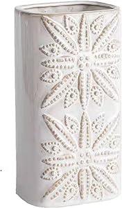 Ceramic vase White Pottery Flower Vase, Decorative Vase Home Decor Living Room Office Decoration