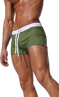 sandbank Men's Swim Trunks Quick Dry Sports Shorts Beach Swimwear with Back Zipper Pocket