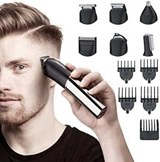 Tiklean 6 In 1 Beard Mustache Trimmers Electric Hair Clippers For Men Beard, Head, Body, Face Multi Functional Mens Groomi...