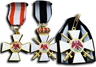 Replicamilitarymedals Military Medal Order of The Red Eagle 1st 2nd 3rd Class Prussian WW1 German Medal Set Repro