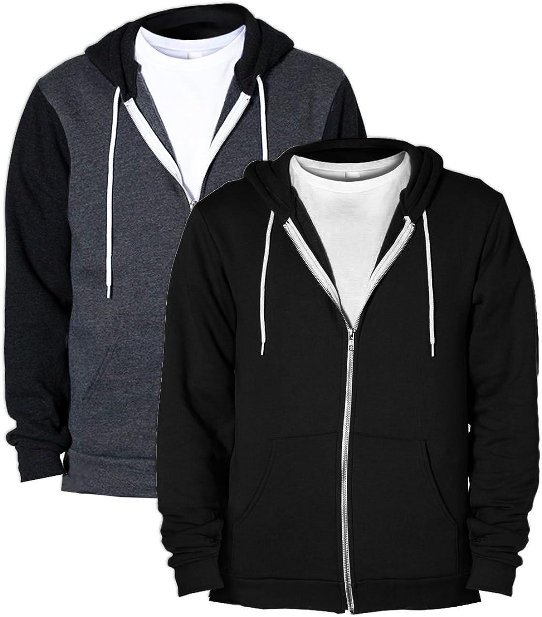 American Apparel F497Unisex Flex Fleece Zip Hoodie