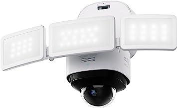 eufy Security Floodlight Pro 2K, 360-Degree Pan and Tilt Coverage, 2K Full HD, Smart Lighting, Weatherproof, On-Device AI,...
