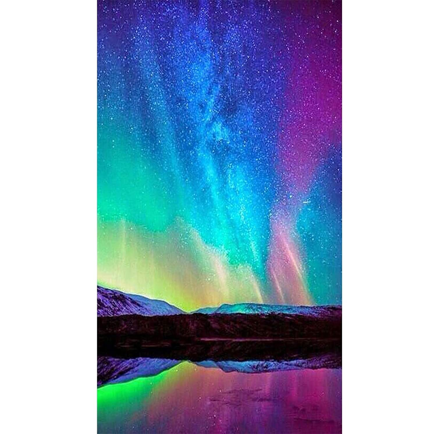 5D Painting with Diamonds DIY Diamond Art Kit for Adult Mysterious Sky Full Drill Diamond Embroidery Wall Decor (13.8X19.7inch)