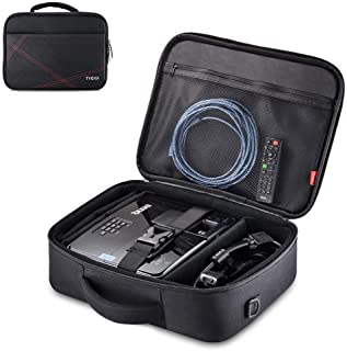 """Projector Case, Projector Travel Carrying Bag Internal Dimension 14.5""""x10.6""""x3.9"""" with Adjustable Shoulder Strap & Compart..."""