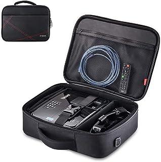 """حقيبة جهاز بروجكت، حقيبة حمل للسفر بالبُعد الداخلي 14. 5""""x10. 6""""x3. 9"""" مع حزام كتف قابل للتعديل وفواصل مقصورات لجهاز Acer ..."""