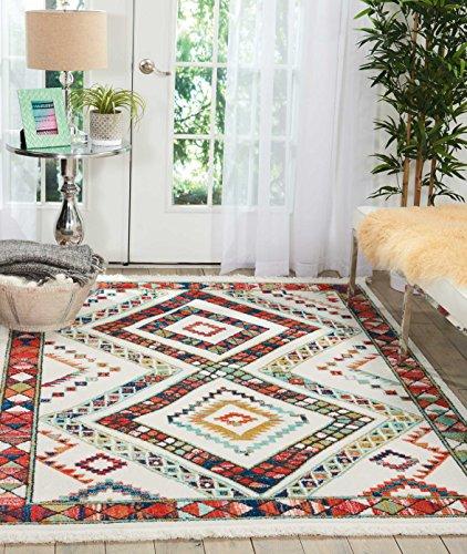 Marca de Amazon - Movian Matevir, alfombra rectangular, 188 de largo x 119,4 cm de ancho (diseño geométrico)