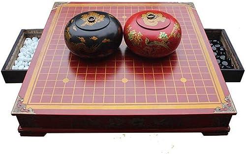Nwn Gehen Sie, antiker Schachtisch Schachspiel Holzschachbrett Größe Schublade