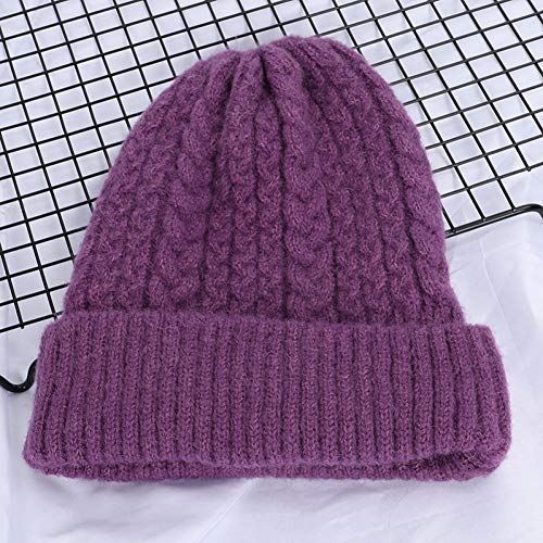 beanie hoeden Vrouwen Hoeden Winter Wol Gebreide Beanie Vrouwen Effen Kleur Gehaakte Casual Hoed Vrouwelijke Zachte Warm Dikke Draai Patroon Caps199