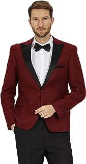 Mens Slim Fit Tuxedo Blazer Jacket One Button Peak Lapel Solid Separate Tux Suit Jacket
