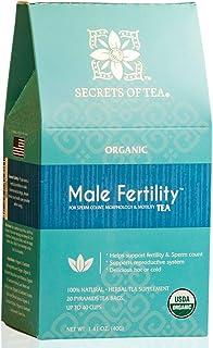 Secrets Of Tea Male Fertility Tea for Men - Natural USDA Organic Caffeine-Free Herbal Tea Supplement for Fertility Boost -...