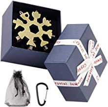 TIANXIAWUDI 18-i-1-snöflinga-multitool i rostfritt stål svart-svart med presentbox-brons