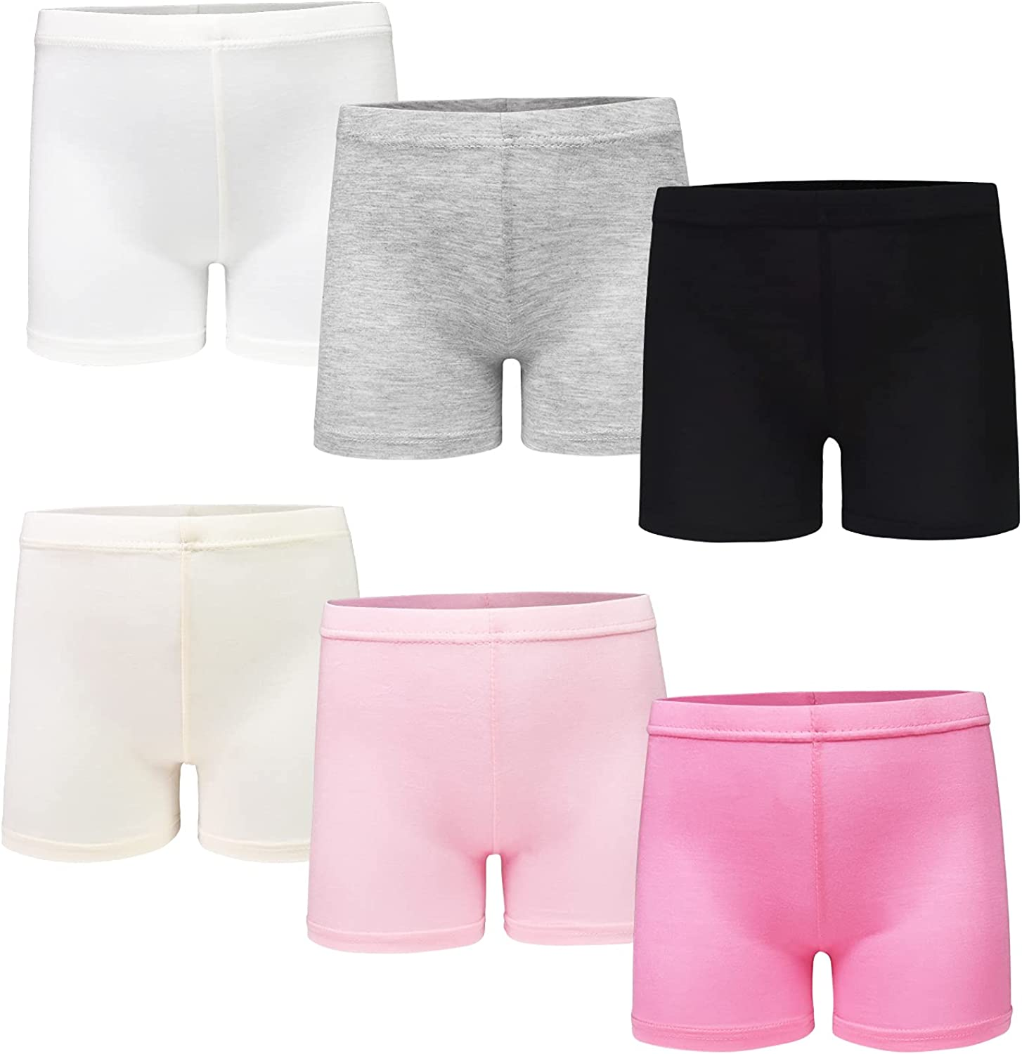 GENTABY Girls' Cotton Tights Short Breathable and Safety (Pack of 8) for 6 Colors