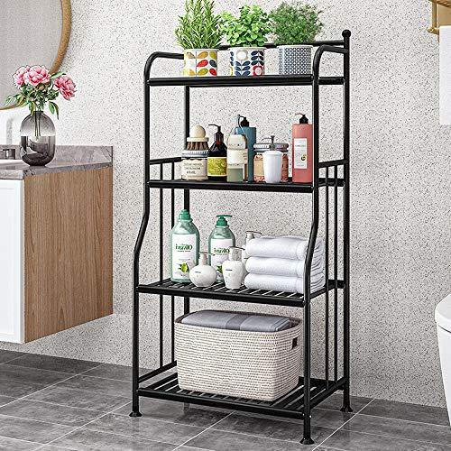 exilot 4 Tier Metal Standing Bathroom Towel Storage Shelf