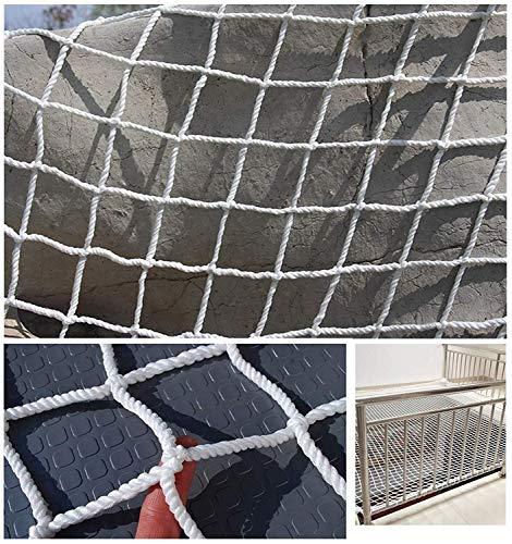 Beschermnet voor balkon, veiligheidsnet, nylon koord, afsluitnet trap, onbreekbaar net, kinderdag-decoratie, net voor speelplaatsen, trampoline, touwnet kan 1 m 10 m wit worden gesneden, decoratie