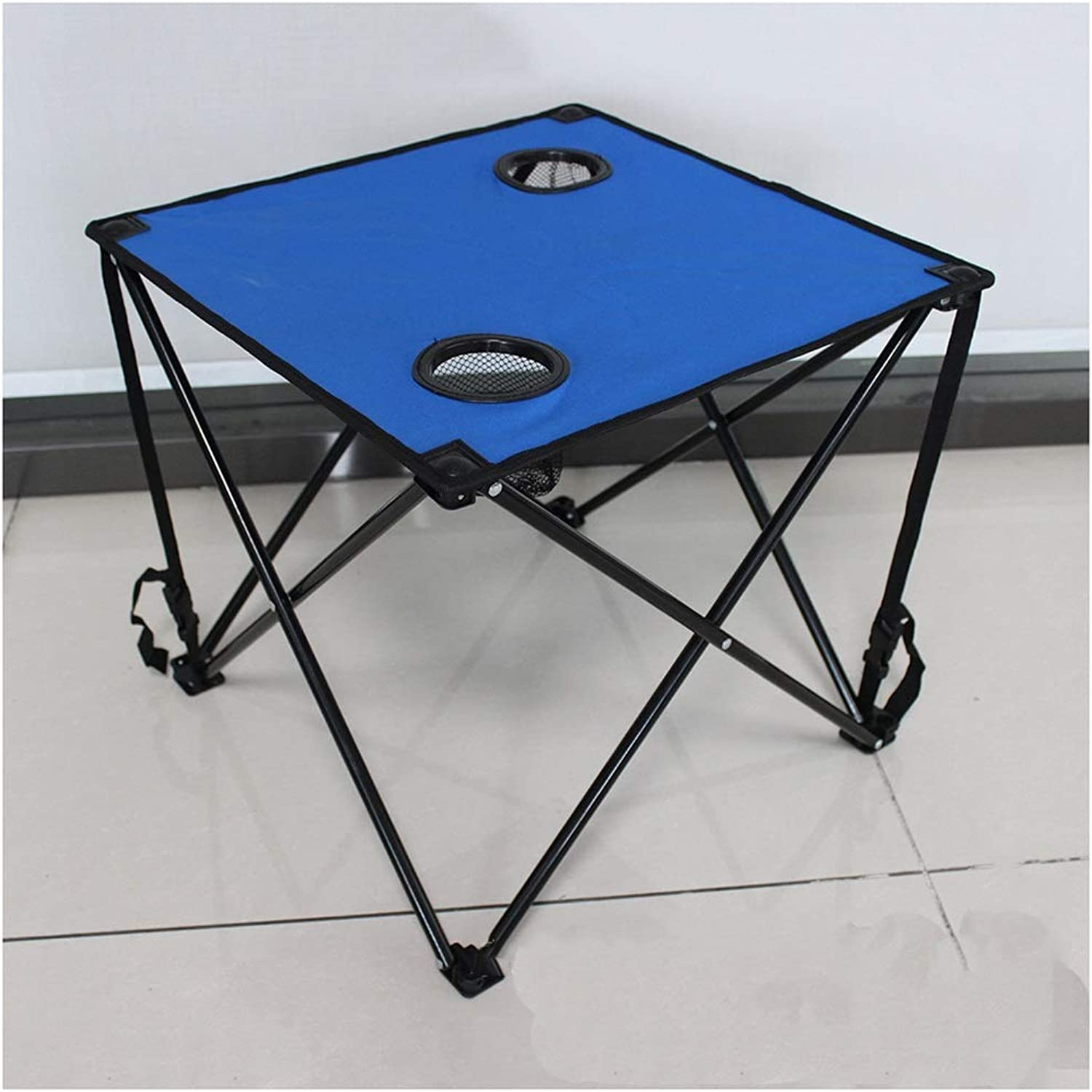 Folding Table Convenient and Multifunctional Oxford Cloth Steel Folding Table Outdoor Beach Camping Indoor Dining Table