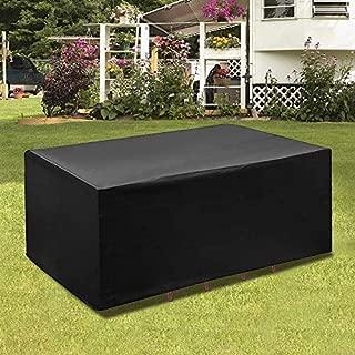 impermeabile Telo di copertura per mobili da giardino in tessuto Oxford 420D BlueCosto rettangolare antivento e anti-UV 420D/_Oxford Cube/_A: 120 x 120 x 74 cm.