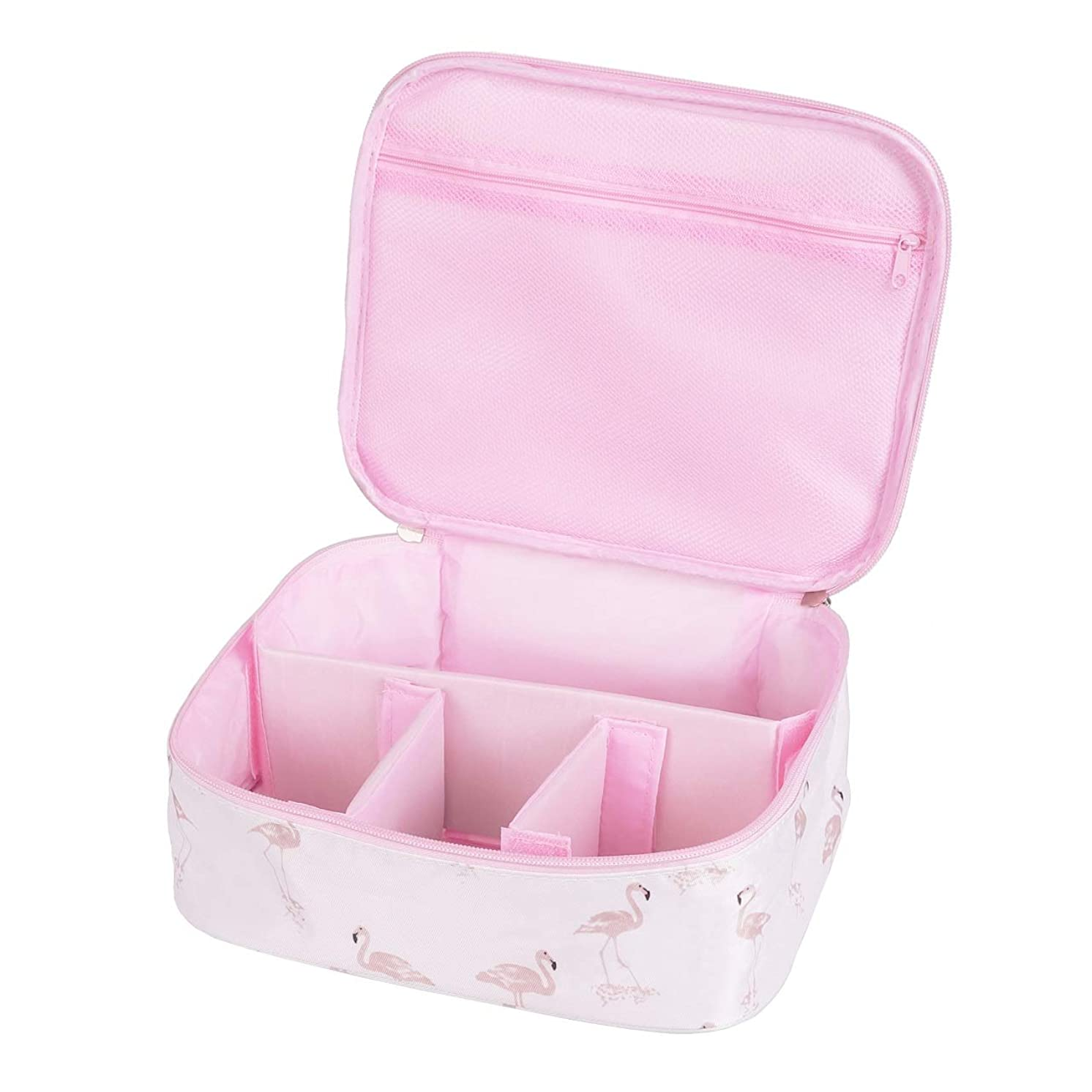 ベーコン旅コール[CAWKAY] メイクボックス 旅行用化粧ケース コスメ バッグ ボックス トラベル化粧ポーチ メイクブラシ 小物入れ 収納