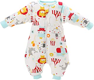 MIKAFEN Baby Sleeping Bag with Legs Warm Lined Winter Long Sleeve Winter Sleeping Bag with Foot 3.5 Tog