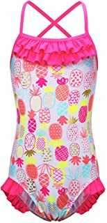 BAOHULU Girls One Piece Bathing Swimsuit Lovely Stripe Swimwear 3-12 Years