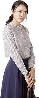 NEWYORKER(ニューヨーカー) マルチストライプ スタンドカラーシャツ