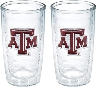 Tervis Texas A and M University Emblem Tumbler (Set of 2), 16 oz, Clear - 1039735