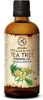 Tea Tree Eterisk Olja 100 ml - Melaleuca Alternifolia Bladolja - Australisk - Aromaterapi - Eteriska Oljor - 100% Ren & Na...