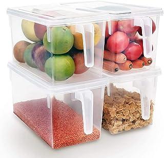 Xnuoyo Conteneurs De Stockage Réutilisables, Organisateur De Stockage des Aliments Boîtes De Rangement pour Réfrigérateur ...