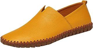 HCFKJ - Zapatos de Piel para Hombre, Estilo Informal, de Verano, de Gran tamaño, Antideslizantes, cómodos