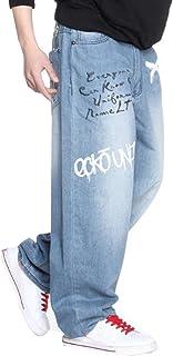 PuHao (プハオ) ストリート系 大きいサイズ ジーンズ メンズ デニム パンツ ストレッチ レギュラー ストレート ジーパン ズボン カーゴパンツ ヒップホップ カジュアル ゆったり 動きやすい ロングパンツ キングサイズ