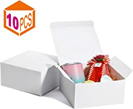 MESHA Gift Boxes 8x8x4in Gift Boxes for Bridesmaids 10Pack White Kraft Gift Boxes with Lids for Crafting, Cupcake Boxes(White)