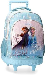 Disney Zaino Doppio Scomparto con Carrello Frozen True To Myself, Blu, 32x43x21