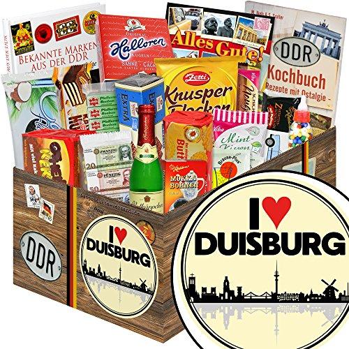 I love Duisburg / DDR Süßigkeiten Box / Duisburg Geschenk Männer