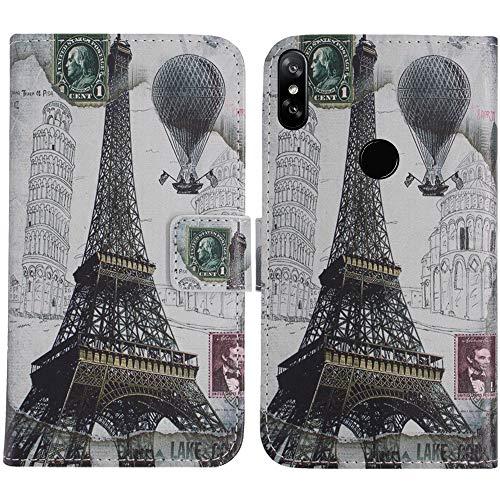 TienJueShi Eiffelturm Flip Stand Brief Leder Tasche Schütz Hülle Handy Hülle Für Archos Oxygen 68XL 6.85 inch Abdeckung Fall Wallet Cover Etüi