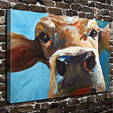 COLORSFORU Wall Art Painting Cattle Prints On Canvas The Picture Landscape Pictures Oil For Home Modern Decoration Print Decor For Living Room