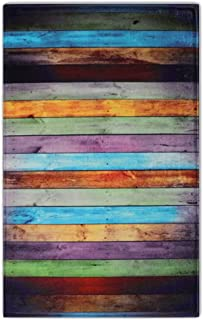 Newcreativetop Colorful Wooden Pattern Kitchen Door Mats Rugs (17